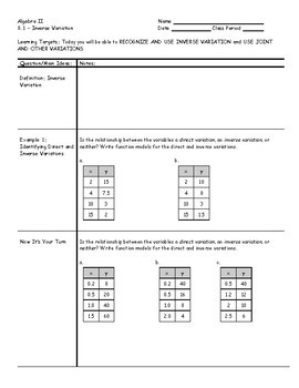 Algebra 2 - Cornell Notes - 2nd Semester - Bundle