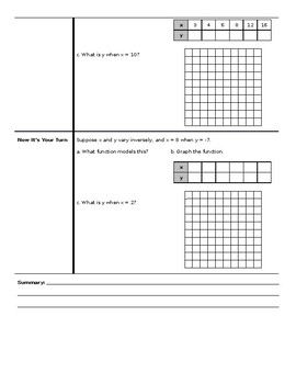Algebra 2 - Cornell Notes - Unit 8 - Rational Functions