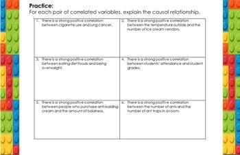 LONG HAUL: Algebra 2 Correlation vs. Causation Smartboard #15