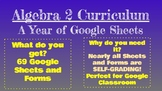 Algebra 2 Curriculum - A Year of Self-Grading Google Sheets
