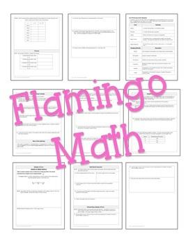 Algebra 2 Data Analysis and Statistics Guided Notes Bundle