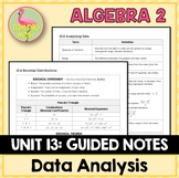 Data Analysis and Statistics Guided Notes (Algebra 2 - Unit 13)
