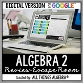 Algebra 2 EOC Review: Escape Room Activity: DIGITAL VERSIO