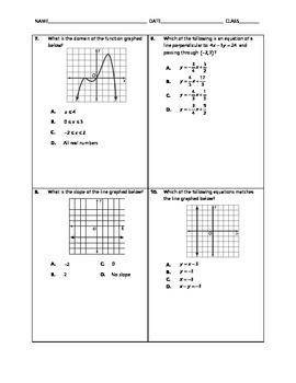 Algebra 2 EOC Spiral Quiz 04