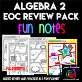 Algebra 2 End of Year Review No Prep Fun Notes Doodle Pages