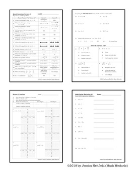 Algebra 2 End of Year EOC Review Activity Bundle: More than just a packet!