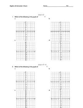 Algebra 2 Exam