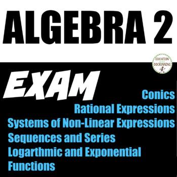 Algebra 2 Exam EDITABLE 2nd Semester