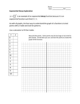 Algebra 2: Exponential Decay Investigation