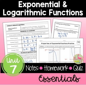 Algebra 2: Exponential and Logarithmic Functions Essentials