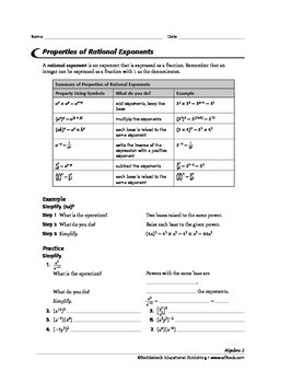 Algebra 2: Exponents and Logarithms