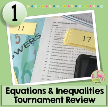 Algebra 2: Expressions Equations & Inequalities Tournament Review Activity
