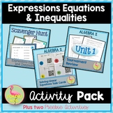 Algebra 2: Expressions Equations and Inequalities Activity Pack