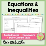 Algebra 2: Expressions Equations and Inequalities Essentials
