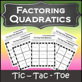 Factoring Trinomials Activity {Factoring Polynomials Activity} {Algebra Games}