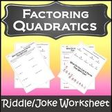 Factoring Trinomials Activity {Factoring Polynomials Worksheet}