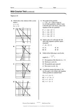 Algebra 2 Fall Semester Exam