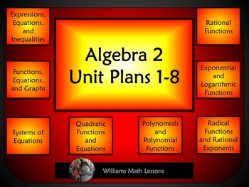 Algebra 2 Unit Plans 1-8 (Bundled)