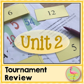 Algebra 2: Functions Equations & Graphs Tournament Review Activity