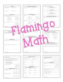 Algebra 2: Functions Equations and Graphs Guided Notes Bundle