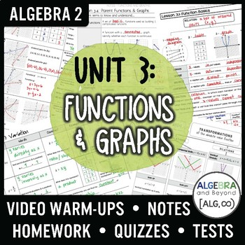 Algebra 2: Functions and Graphs Unit