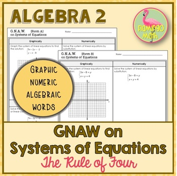 Algebra 2: GNAW on Systems of Equations