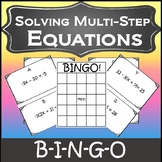 Algebra Games {Solving MultiStep Equations Activity} {Algebra Bingo}