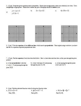Algebra 2 Group Practice Test Systems of Equations (Editable)
