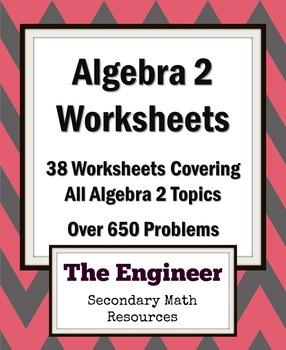 Algebra 2 Homework Worksheets / Review Worksheets