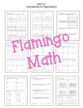 Introduction to Trigonometry HOMEWORK Bundle