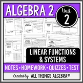 Linear Functions and Systems (Algebra 2 Curriculum - Unit 2)