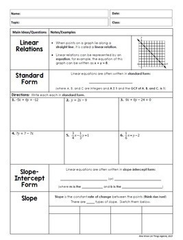 Linear Functions and Systems (Algebra 2 Curriculum - Unit 2)   TpT