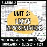 Linear Representations Unit Bundle (Algebra 2 Curriculum)