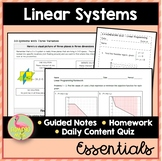 Linear Systems and Inequalities Essentials (Algebra 2 - Unit 3)