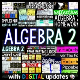 Algebra 2 Activities Bundle with digital updates