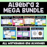 Algebra 2 MEGA Bundle Activities and Puzzle Worksheets