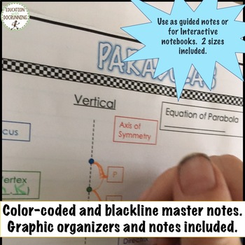 Algebra 2 Mega Resource Bundle Includes Foldables Projects and Activities