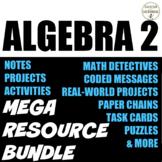 Algebra 2 Curriculum Bundle with Trigonometry full year UPDATED