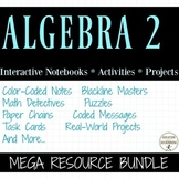 Algebra 2 Curriculum Bundle with Trigonometry UPDATED