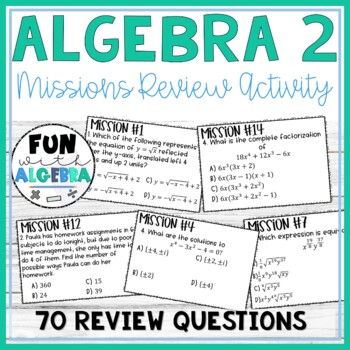 Algebra 2 Missions Review Game