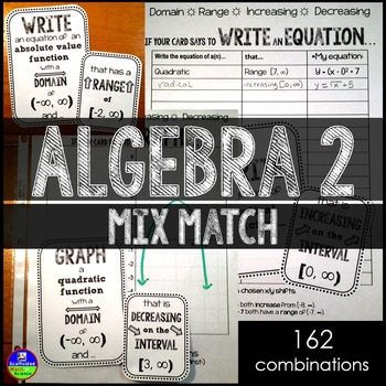 Algebra 2 Mix-Match Game