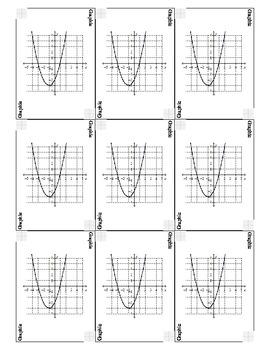 Algebra 2 Parent Functions Go Fish Cards