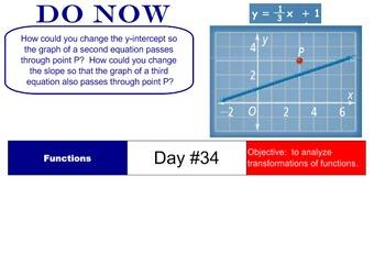 LONG HAUL: Algebra 2 Parent Functions Smartboard #17