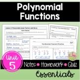 Polynomials Essentials (Algebra 2 - Unit 5)