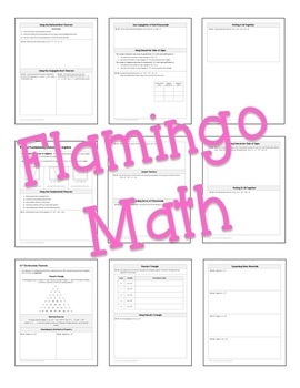 Algebra 2 Polynomial Functions Guided Notes Bundle