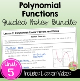 Polynomials Guided Notes (Algebra 2 - Unit 5)