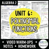 Algebra 2: Polynomial Functions Unit