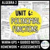 Polynomial Functions Unit (Algebra 2 Curriculum)