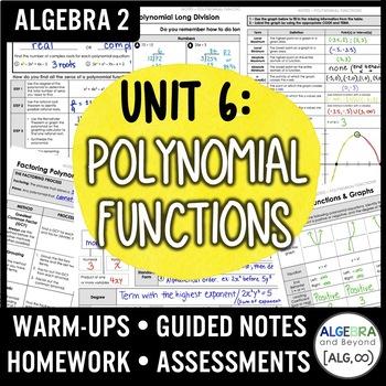 Polynomial Functions Unit Bundle (Algebra 2 Curriculum)