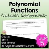 Polynomials Assessments (Algebra 2 - Unit 5)